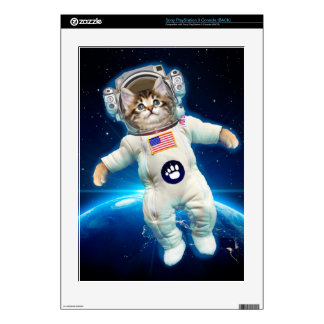 Cat astronaut - space cat - Cat lover PS3 Decal