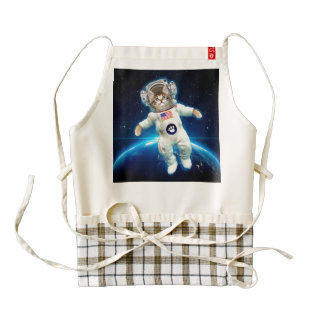 Cat astronaut - space cat - Cat lover Zazzle HEART Apron