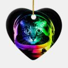 Cat astronaut - space cat - funny cats ceramic ornament