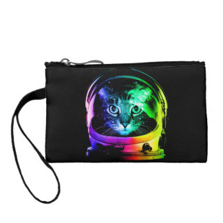 Cat astronaut - space cat - funny cats coin purse