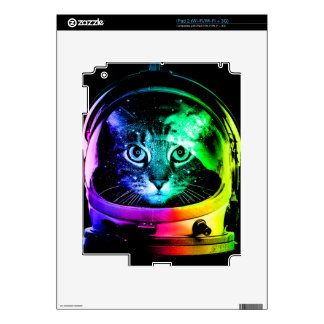 Cat astronaut - space cat - funny cats decals for the iPad 2