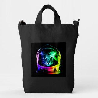Cat astronaut - space cat - funny cats duck bag
