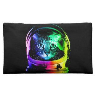 Cat astronaut - space cat - funny cats makeup bag