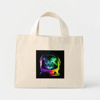 Cat astronaut - space cat - funny cats mini tote bag