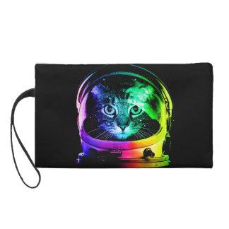 Cat astronaut - space cat - funny cats wristlet purse