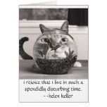 cat at fish bowl, i rejoice that i live in...times cards