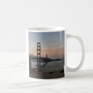 Cat at Golden Gate Bridge Coffee Mug