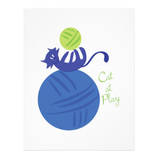 Cat At Play Customized Letterhead
