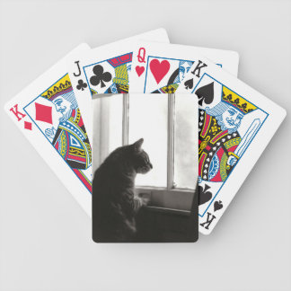 Cat at Window Playing Cards