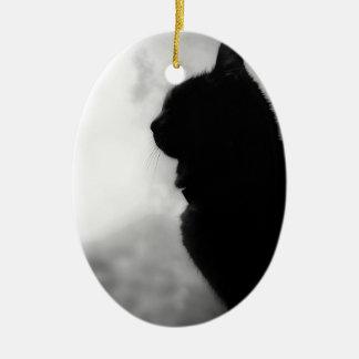 Cat ate Night Feline Animal cap Cat Puss Pussy Ceramic Ornament