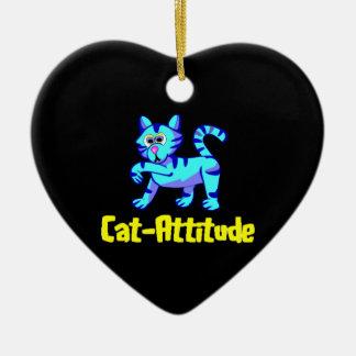 Cat-Attitude Ceramic Ornament