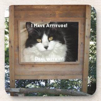 Cat Attitude Coaster