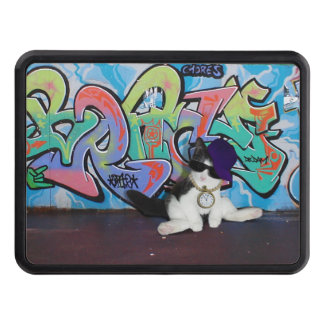 Cat Attitude.....Kitten and Graffiti Wall Tow Hitch Cover