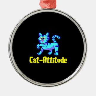 Cat-Attitude Metal Ornament