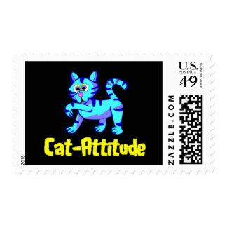 Cat-Attitude Postage Stamp