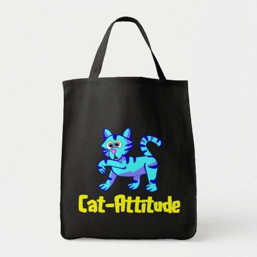 Cat-Attitude Tote Bags