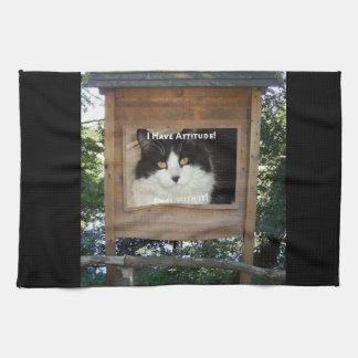 Cat Attitude Towels