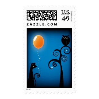 Cat & Balloon Postage