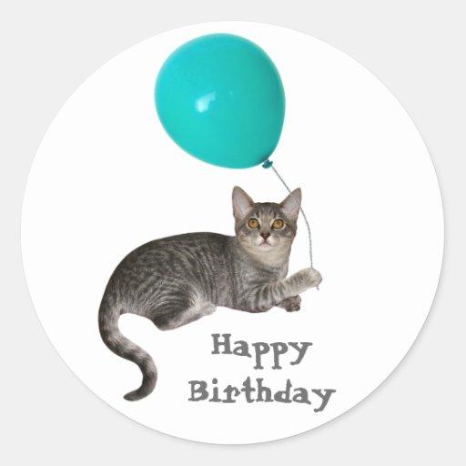 Cat Balloon Sticker
