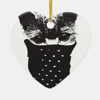 cat bandana ceramic ornament