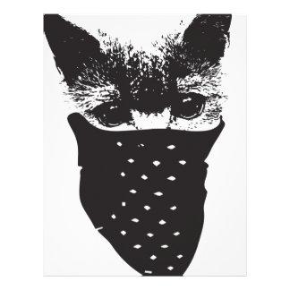 cat bandana letterhead