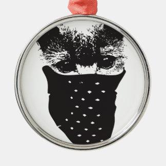 cat bandana metal ornament
