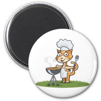 Cat Barbecue Fridge Magnet