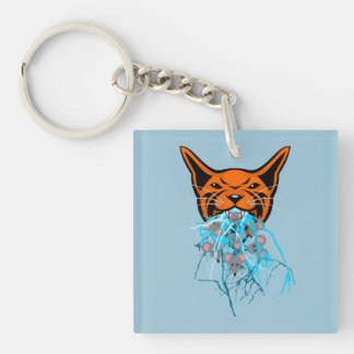 Cat Barf Mouse Heads Keychain