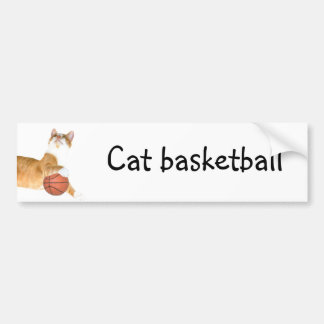 Cat basketball bumper sticker