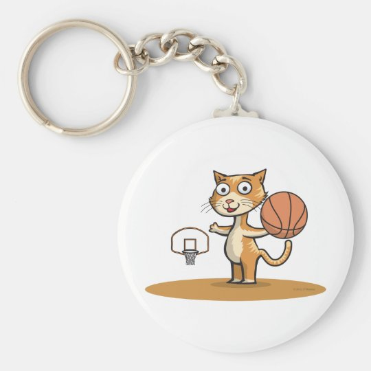 Cat Basketball Keychain