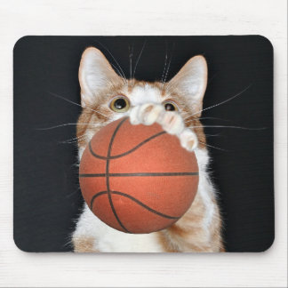 Cat basketball mouse pad