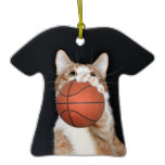 Cat basketball sports ornament