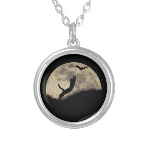 Cat Bat Moon Necklace