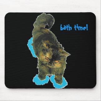 Cat bath time mouse pad