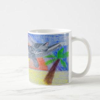 Cat Beach Coffee Mug