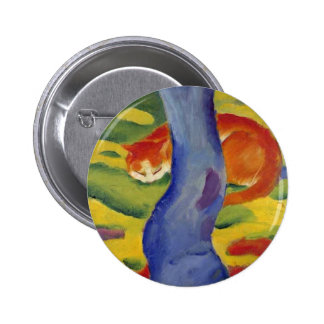 Cat Behind a Tree Artwork by Franz Marc Pins