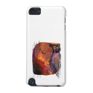 Cat Behind Bass Merged Singer Picture Sketch iPod Touch 5G Case