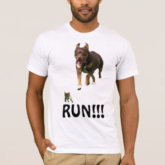Cat being chases by Dog Shirt