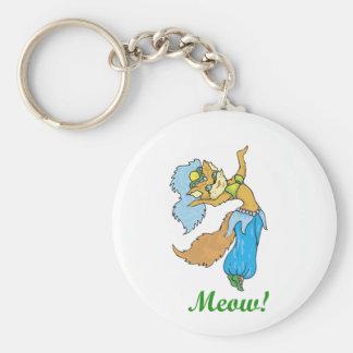 Cat Belly Dancer Basic Round Button Keychain