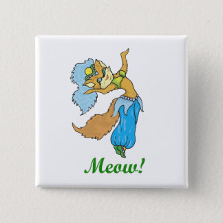 Cat Belly Dancer Pinback Button