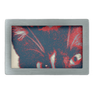 cat rectangular belt buckles