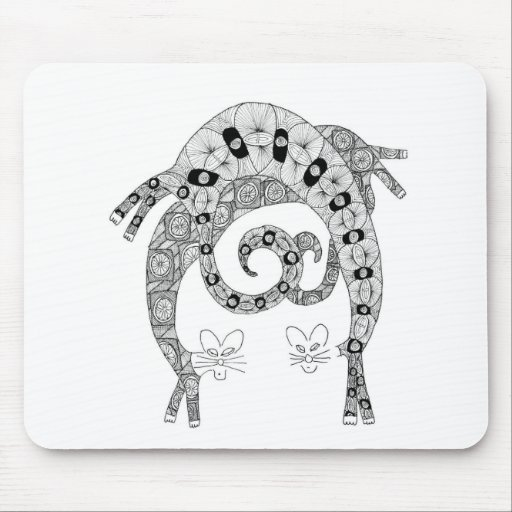 cat bend mouse pads
