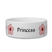 Cat Best Friend Garden - Pink Flowers Bowl