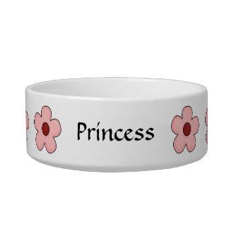 Cat Best Friend Garden - Pink Flowers Bowl