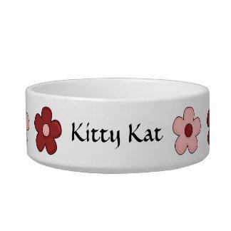 Cat Best Friend Garden - Red & Pink Bowl