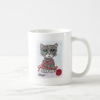 CAT BIG EYES CUTE COFFEE MUG
