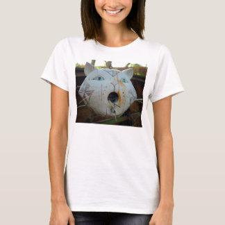 Cat bird feeder t-shirt for her
