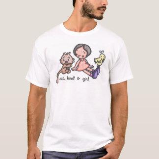 cat, bird & girl T-Shirt
