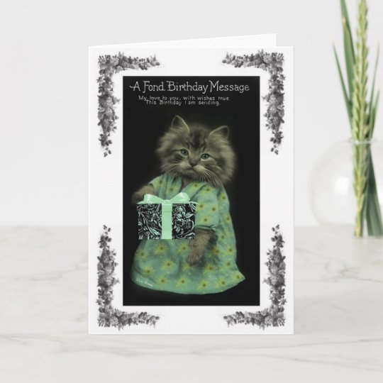 Cat Birthday Card Zazzle