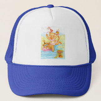 Cat Birthday Pool Party Trucker Hat
